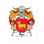Escudo de la familia de Bou Postales