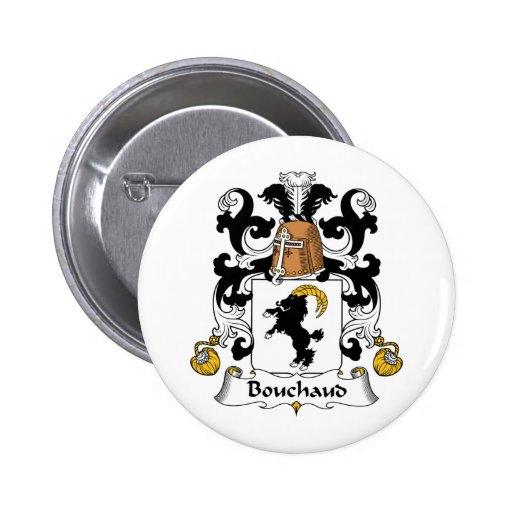 Escudo de la familia de Bouchaud Pin Redondo 5 Cm