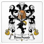 Escudo de la familia de Bouchaud Relojes De Pared