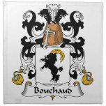 Escudo de la familia de Bouchaud Servilleta