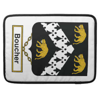 Escudo de la familia de Boucher Funda Para Macbook Pro