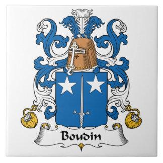 Escudo de la familia de Boudin Azulejos Cerámicos