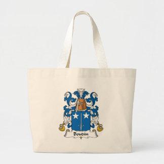 Escudo de la familia de Boudin Bolsa De Mano