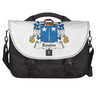 Escudo de la familia de Boudin Bolsas Para Ordenador
