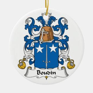 Escudo de la familia de Boudin Ornamento Para Reyes Magos