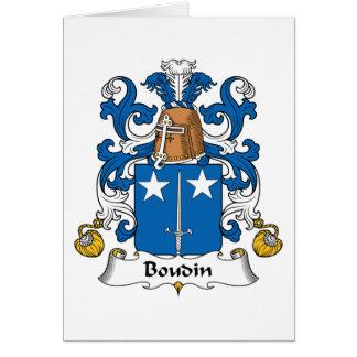 Escudo de la familia de Boudin Felicitación