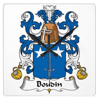 Escudo de la familia de Boudin Reloj