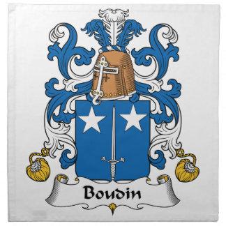 Escudo de la familia de Boudin Servilleta Imprimida