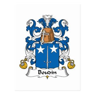Escudo de la familia de Boudin Tarjeta Postal