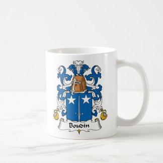 Escudo de la familia de Boudin Taza De Café