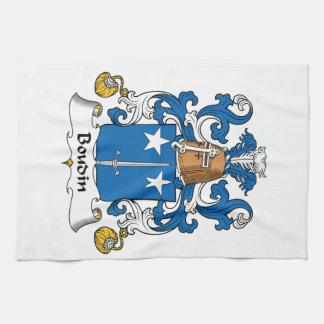 Escudo de la familia de Boudin Toallas De Mano