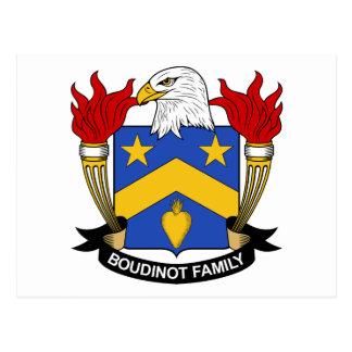 Escudo de la familia de Boudinot Postales