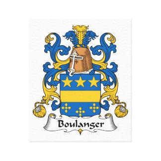 Escudo de la familia de Boulanger Impresiones En Lona Estiradas