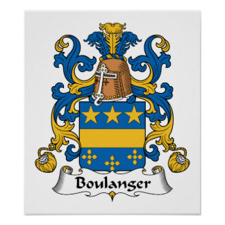 Escudo de la familia de Boulanger Póster