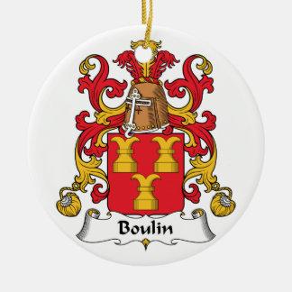 Escudo de la familia de Boulin Adorno Redondo De Cerámica