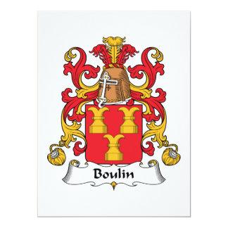 """Escudo de la familia de Boulin Invitación 6.5"""" X 8.75"""""""