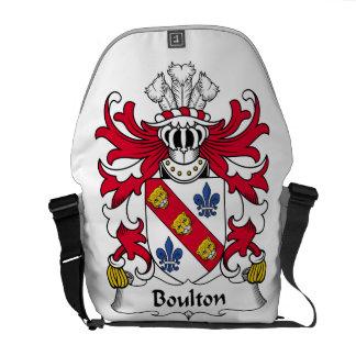 Escudo de la familia de Boulton Bolsa De Mensajeria