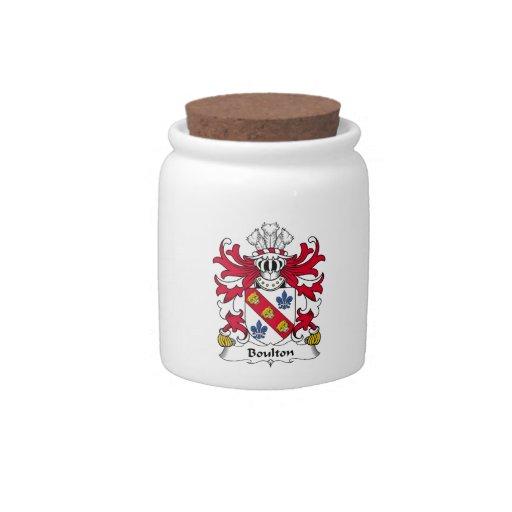 Escudo de la familia de Boulton Platos Para Caramelos