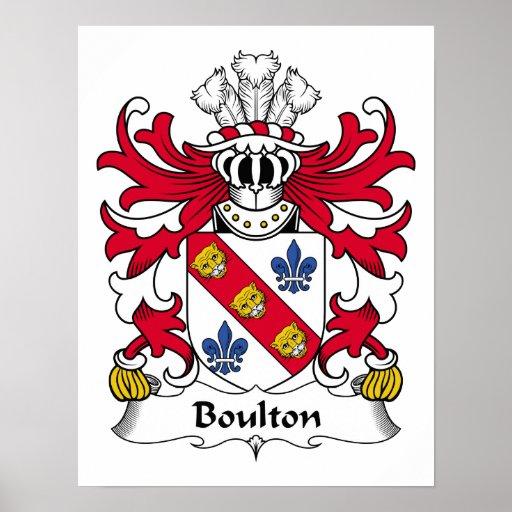 Escudo de la familia de Boulton Posters