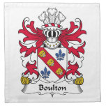 Escudo de la familia de Boulton Servilleta De Papel