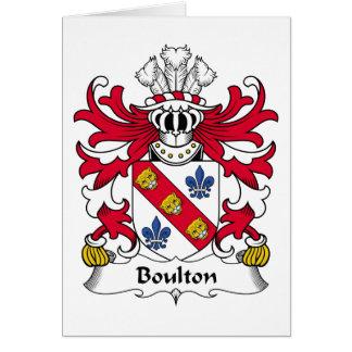 Escudo de la familia de Boulton Tarjeta De Felicitación