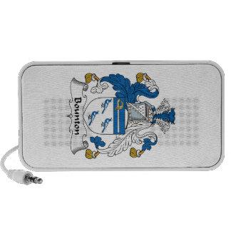 Escudo de la familia de Bounton Notebook Altavoz