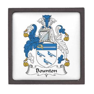 Escudo de la familia de Bounton Caja De Recuerdo De Calidad