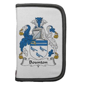 Escudo de la familia de Bounton Planificador