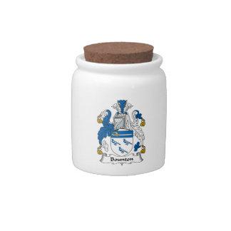 Escudo de la familia de Bounton Jarra Para Caramelo