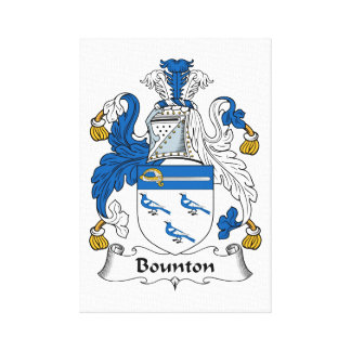 Escudo de la familia de Bounton Impresión De Lienzo