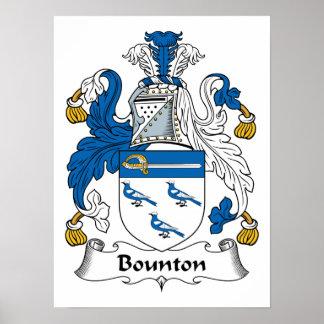 Escudo de la familia de Bounton Impresiones