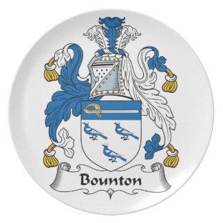 Escudo de la familia de Bounton Platos De Comidas