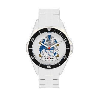 Escudo de la familia de Bounton Relojes