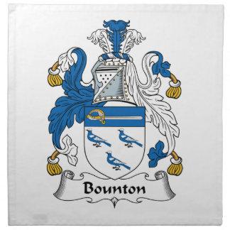 Escudo de la familia de Bounton Servilleta Imprimida