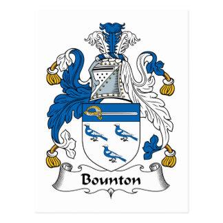 Escudo de la familia de Bounton Tarjetas Postales