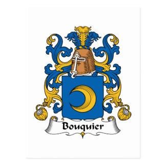 Escudo de la familia de Bouquier Tarjeta Postal