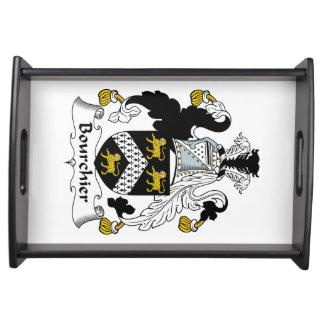 Escudo de la familia de Bourchier Bandeja