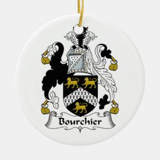 Escudo de la familia de Bourchier Adorno Redondo De Cerámica