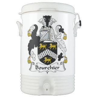Escudo de la familia de Bourchier Enfriador De Bebida Igloo