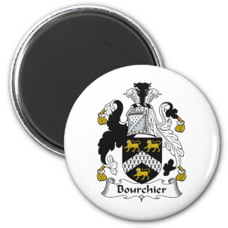 Escudo de la familia de Bourchier Imán Redondo 5 Cm