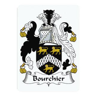 """Escudo de la familia de Bourchier Invitación 5"""" X 7"""""""