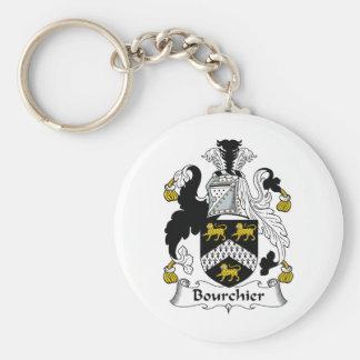 Escudo de la familia de Bourchier Llavero Redondo Tipo Pin
