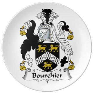 Escudo de la familia de Bourchier Plato De Cerámica