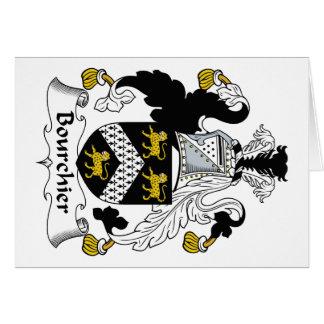 Escudo de la familia de Bourchier Tarjeta De Felicitación