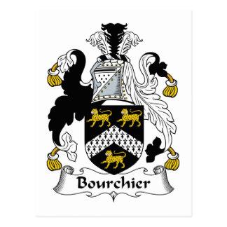 Escudo de la familia de Bourchier Tarjeta Postal