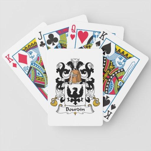 Escudo de la familia de Bourdin Baraja Cartas De Poker