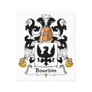 Escudo de la familia de Bourdin Lona Envuelta Para Galerías