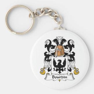 Escudo de la familia de Bourdin Llaveros Personalizados