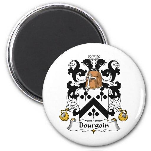 Escudo de la familia de Bourgoin Iman Para Frigorífico