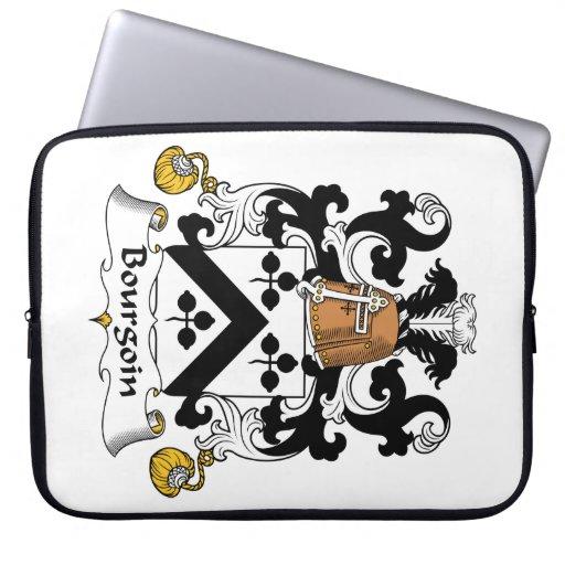Escudo de la familia de Bourgoin Mangas Portátiles